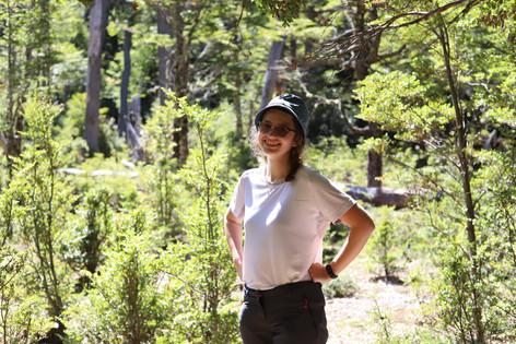 Student Julia in Patagonia