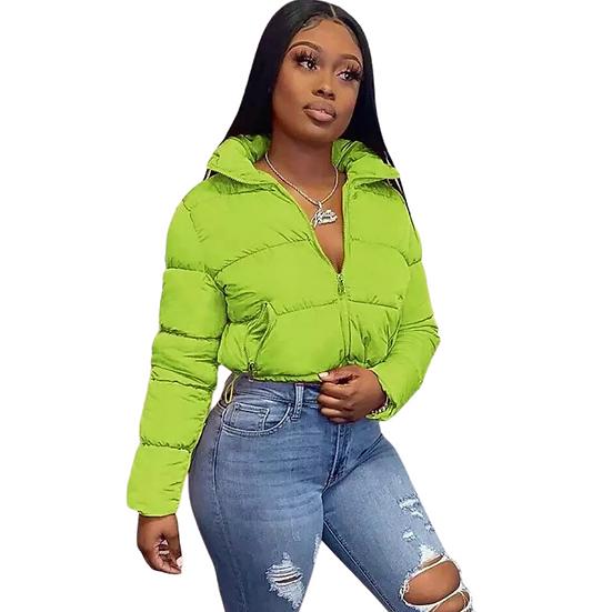 Short Crop Bubble Jacket