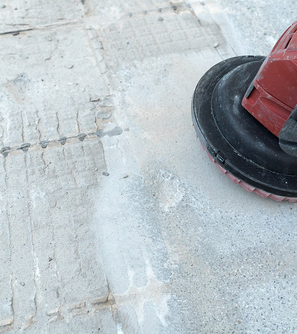 Surface Prep with Grinder