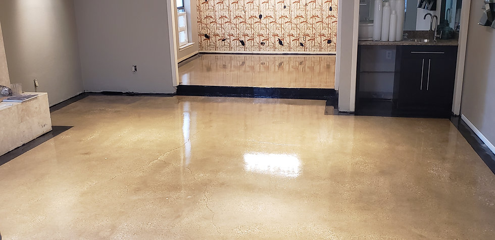 Floor with topical sealer