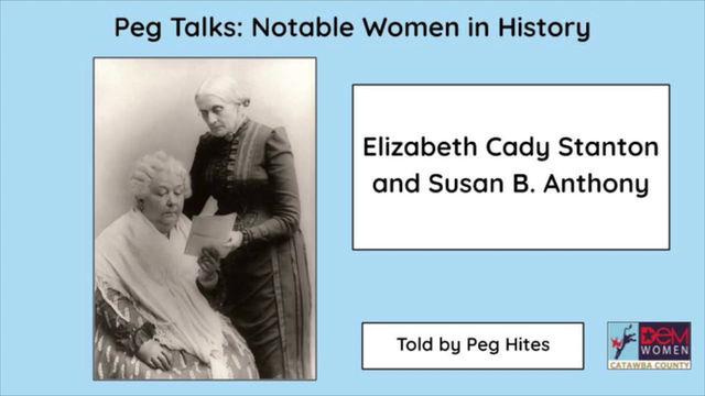 Peg Talks: Notable Women in History