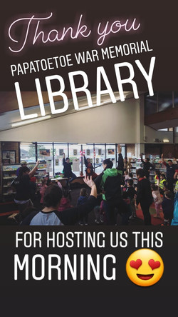 Also lots of fun at the Papatoetoe War Memorial Library sessions