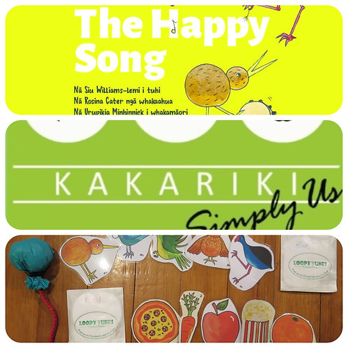 """Happy Song"" Book + ""Kākāriki"" CD + Packs + Poi"