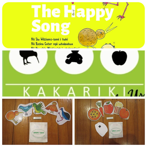 """Happy Song"" Book + ""Kākāriki"" CD + Food and Bird Packs"