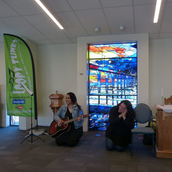 """""""Moe, Moe Tetipea"""" at the opening of the Chapel of the Waves, Christchurch, 2019"""