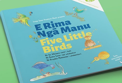 Book Only - E Rima Ngā Manu | Five Little Birds
