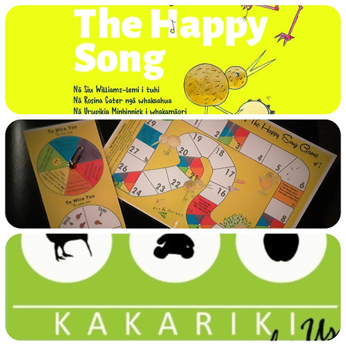 """Happy Song"" Book + Game + ""Kākāriki"" CD"