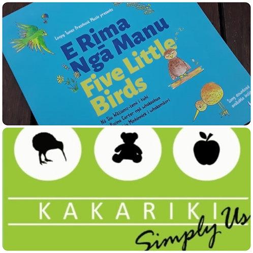 """Five Little Birds"" Book + ""Kākāriki"" CD"