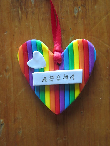 """Rainbow Aroha"" Christmas Tree Decoration"