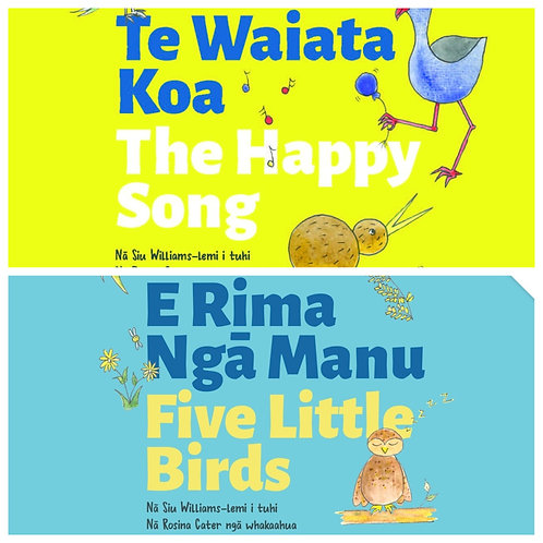 Two Books - Happy Song + Five Little Birds