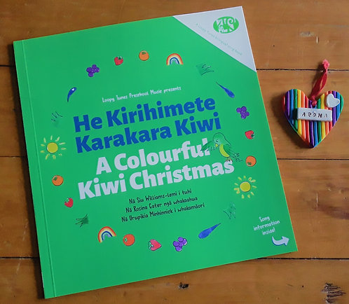 """Colourful"" Book + ""Rainbow Aroha"" Decoration"