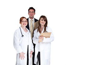 Smiling group of doctors and medical sta