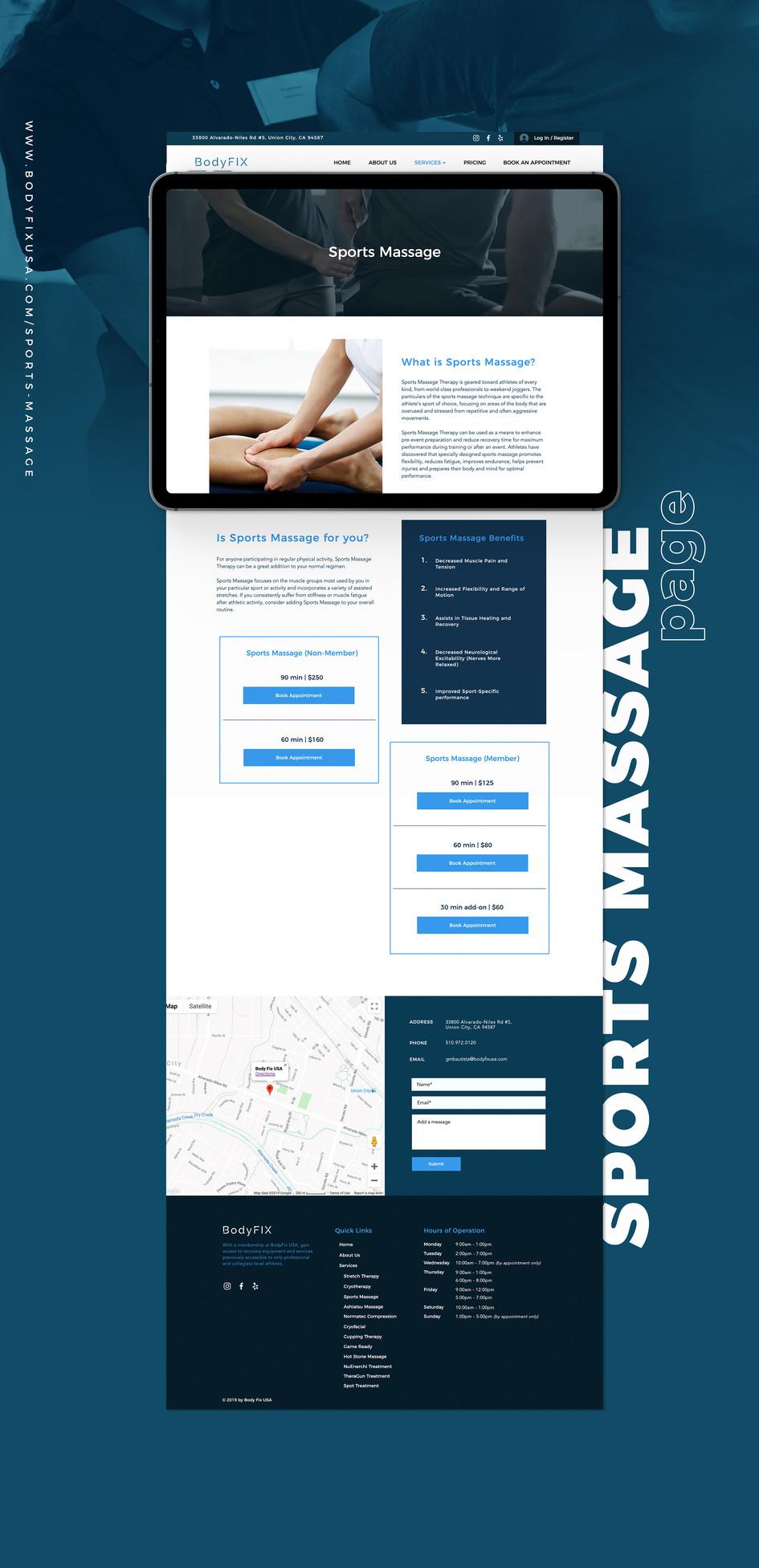 Sports Massage Page