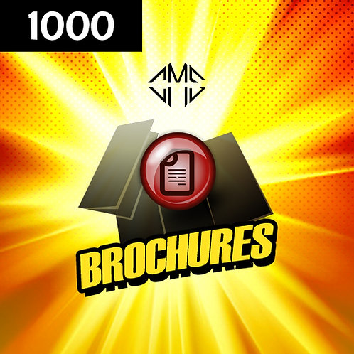1000 Trifolds/Brochures