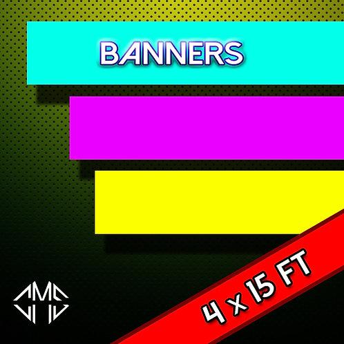 4 X 15  FT Banner