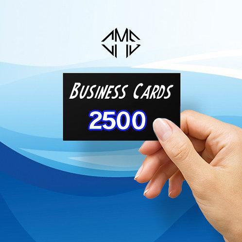 2500 Custom Business Cards