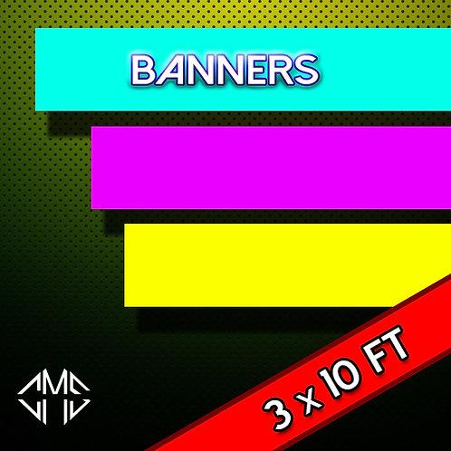 3  X 10  FT Banner