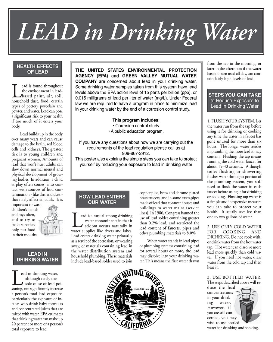 Lead in Drinking Water Notice