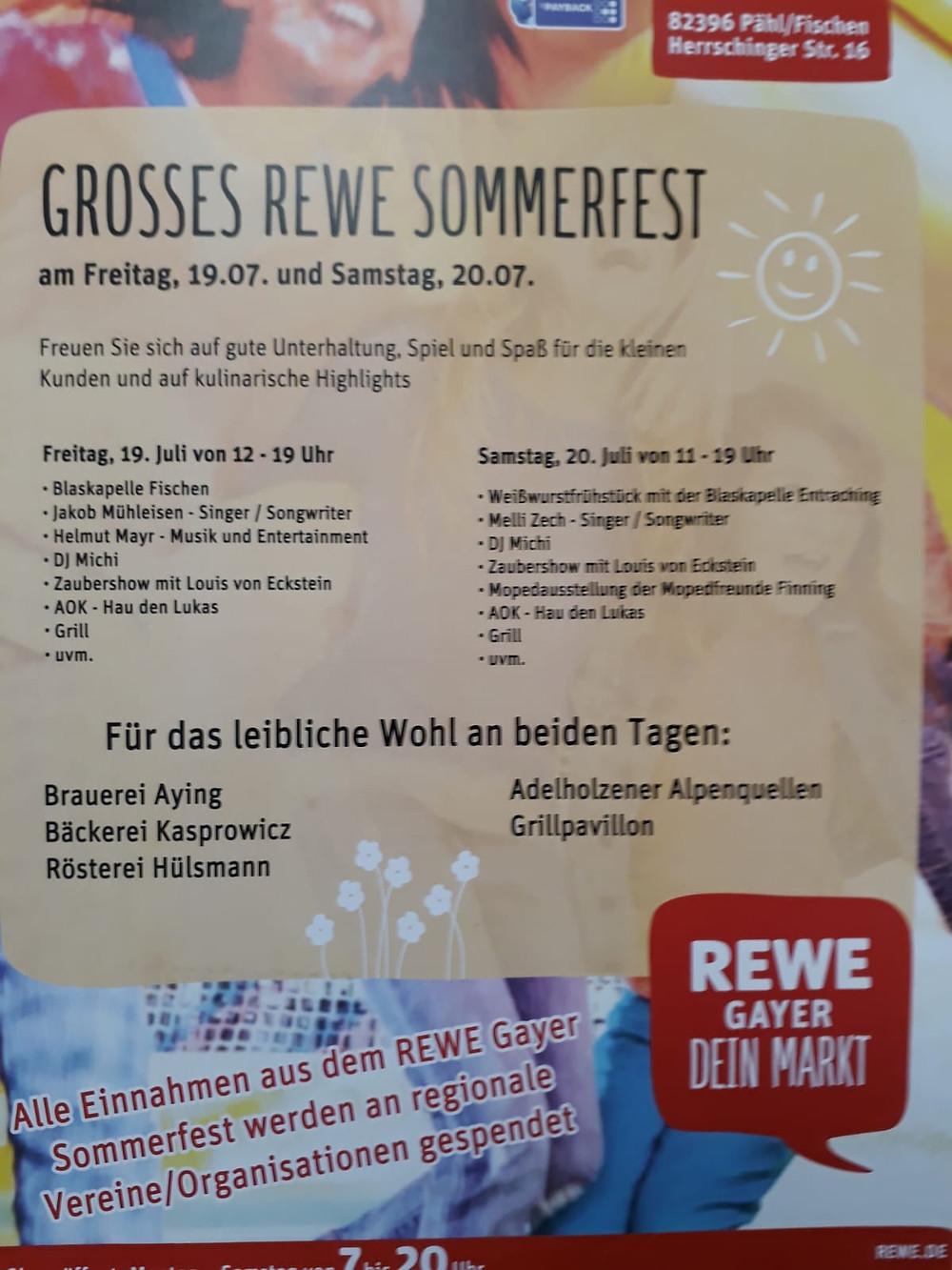 Großes REWE Sommerfest