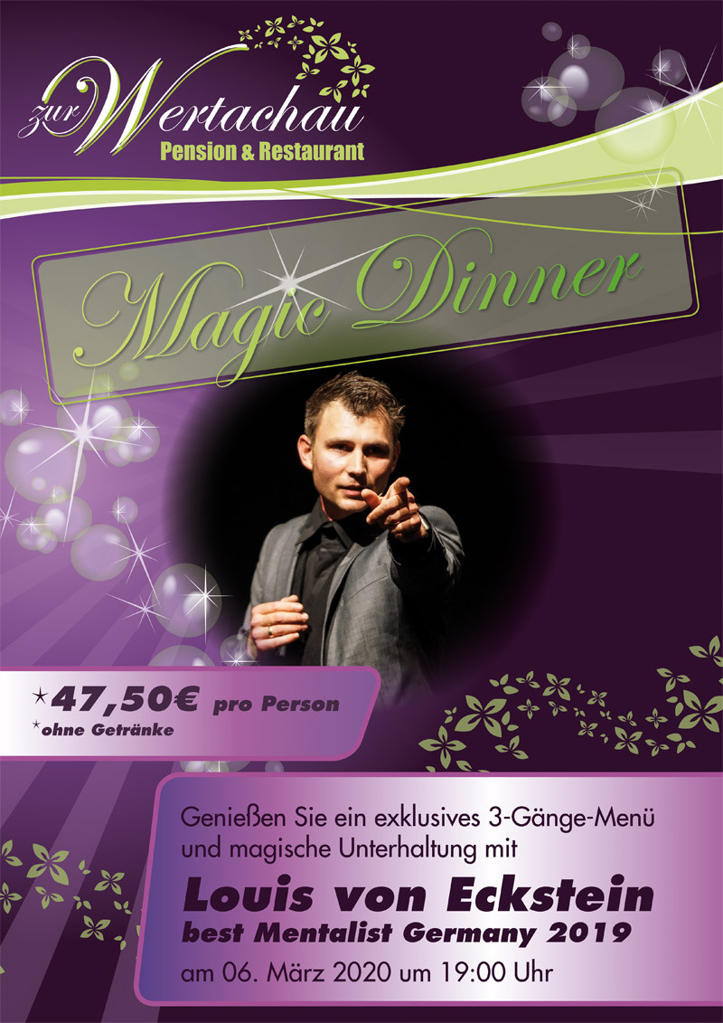 Magic Dinner mit Louis von Eckstein