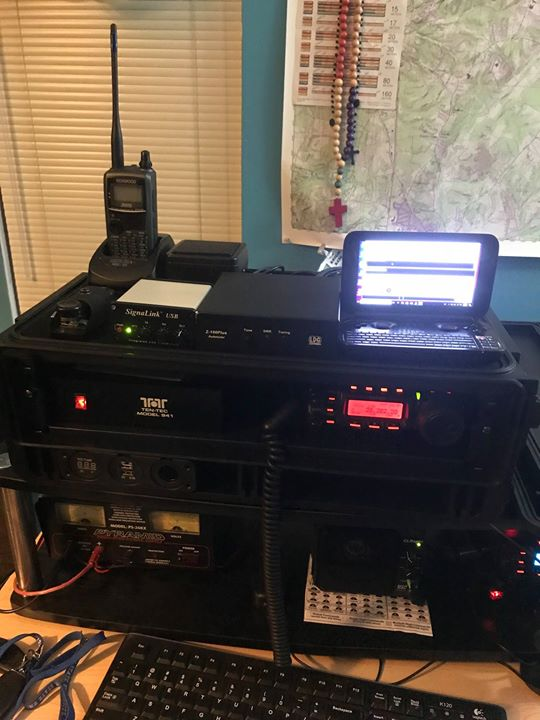 KB3LIB's Deployment shack in its home configuration setup before the drill