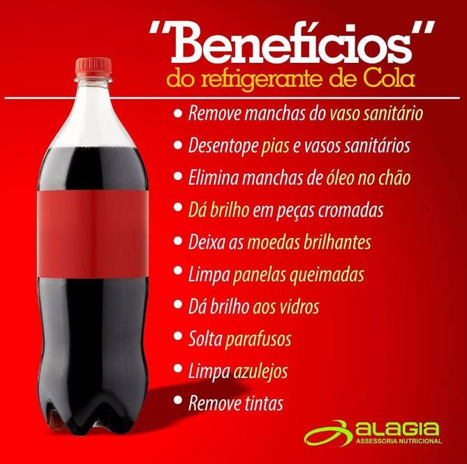 """Os """"benefícios"""" do refrigerante de Cola!"""
