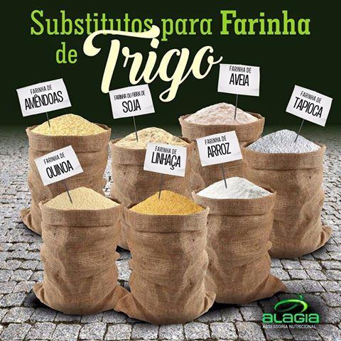 Substitutos para Farinha de Trigo