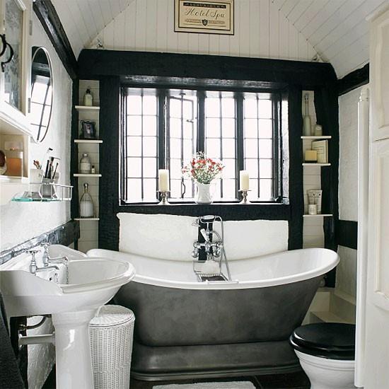 black accent bathroom