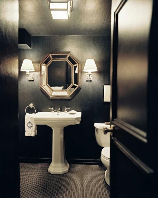 black paint bathroom
