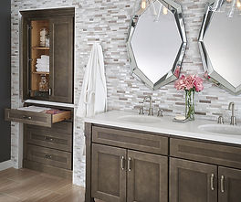 bathroom cabinetry and sinks and faucents and mirrors