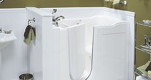 walk-in tub for elderly people or people with disabilities; handicap accessible tub