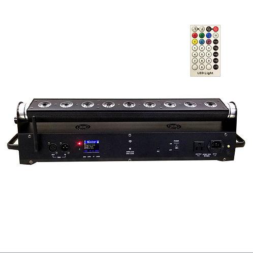 SMART 2 WASH RGBWA+UV, 162W, battery powered, Wireless DMX, remote,BLACK