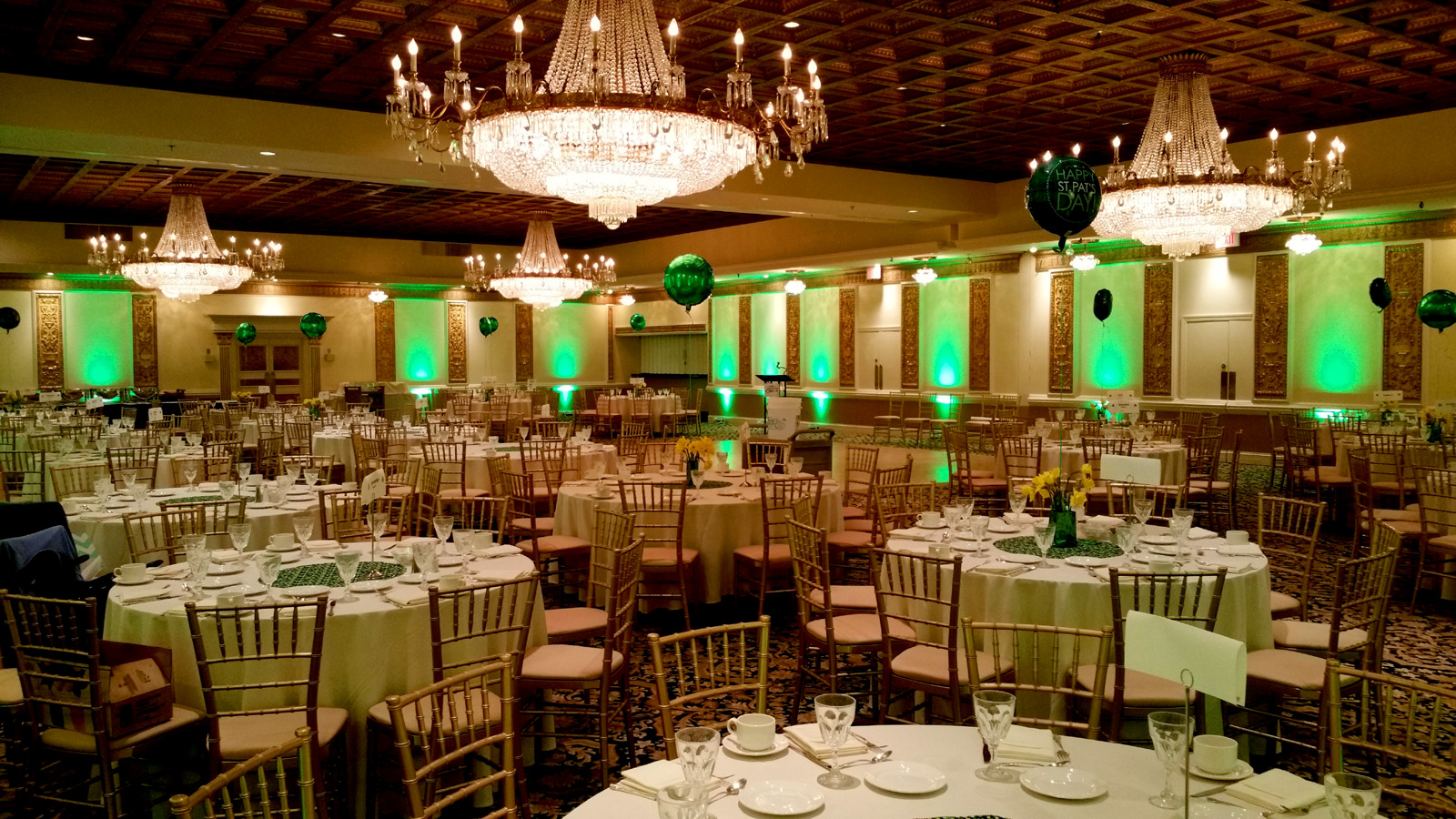 Green Uplighting at Fountain Blue by Endless Entertainment Chicago