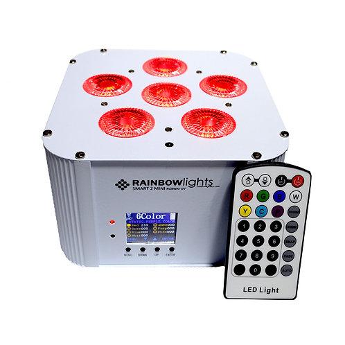 SMART 2 MINI, RGBWA+UV, 108W, battery powered, Wireless DMX, remote, WHITE