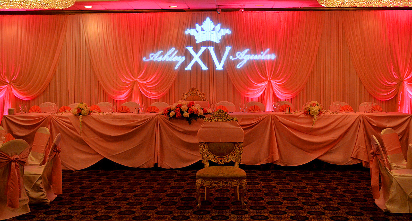 Biaggio Uplighting and Gobo Monogram by Endless Entertainment (2)