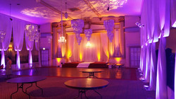 Purple Amber Uplighting at Stan Mansion Chicago by Endless Entertainment
