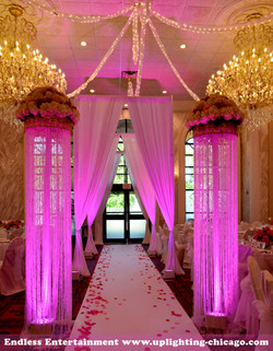 Chateau Del Mar Purple Hot Pink Uplighting by Endless Entertainment