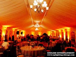 Lincolnshire Mariott Uplighting rental Tent uplighting peach Des Plaines Glenview Niles Northbrook M