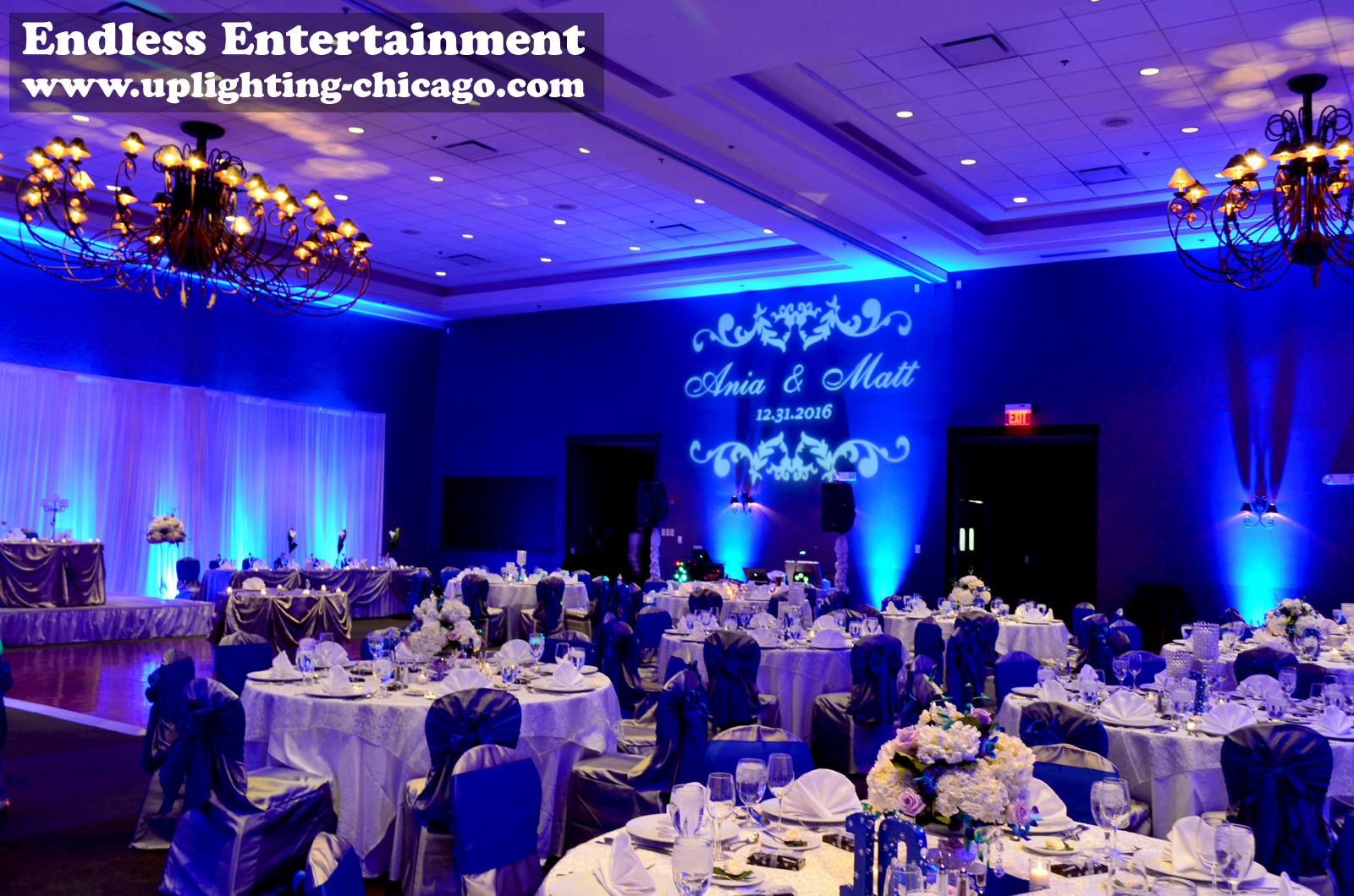 Wedding Stonegate Uplighting by Endless Entertainment Chicago (773)744-3903