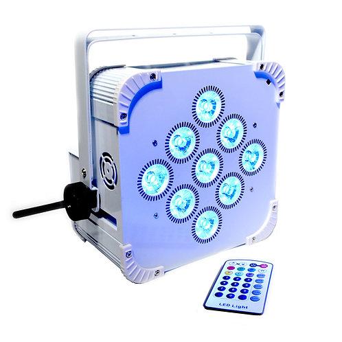 Smart 2 PRO, RGBWA+UV, 162W battery powered, Wireless DMX, remote, WHITE