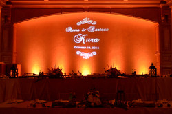 Camelot Banquets uplighting gobo monoram by Endless Entertainment Chicago (1)