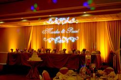 Wedding Uplighting & Gobo Monogram _ Pescatore Palace by Endless Entertainment