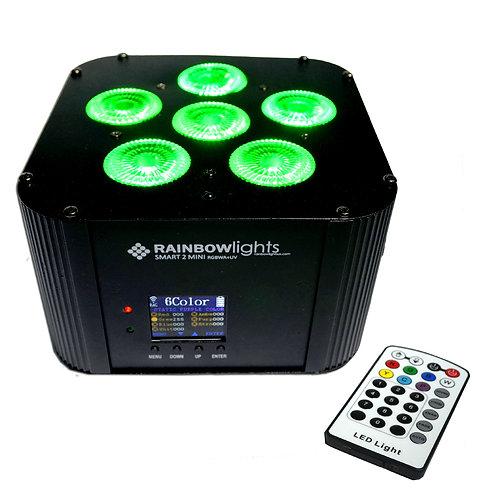 SMART 2 MINI RGBWA+UV, 108W, battery powered, Wireless DMX, remote, BLACK