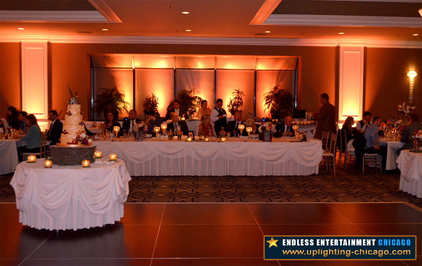 Amber Uplighting by Endless Entertainment Chicago - www.uplighting-chicago.com (