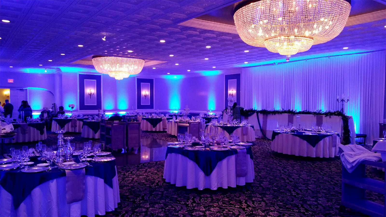Wedding Uplighting at Fountain Blue Elk Grove Village by Endless Entertainment