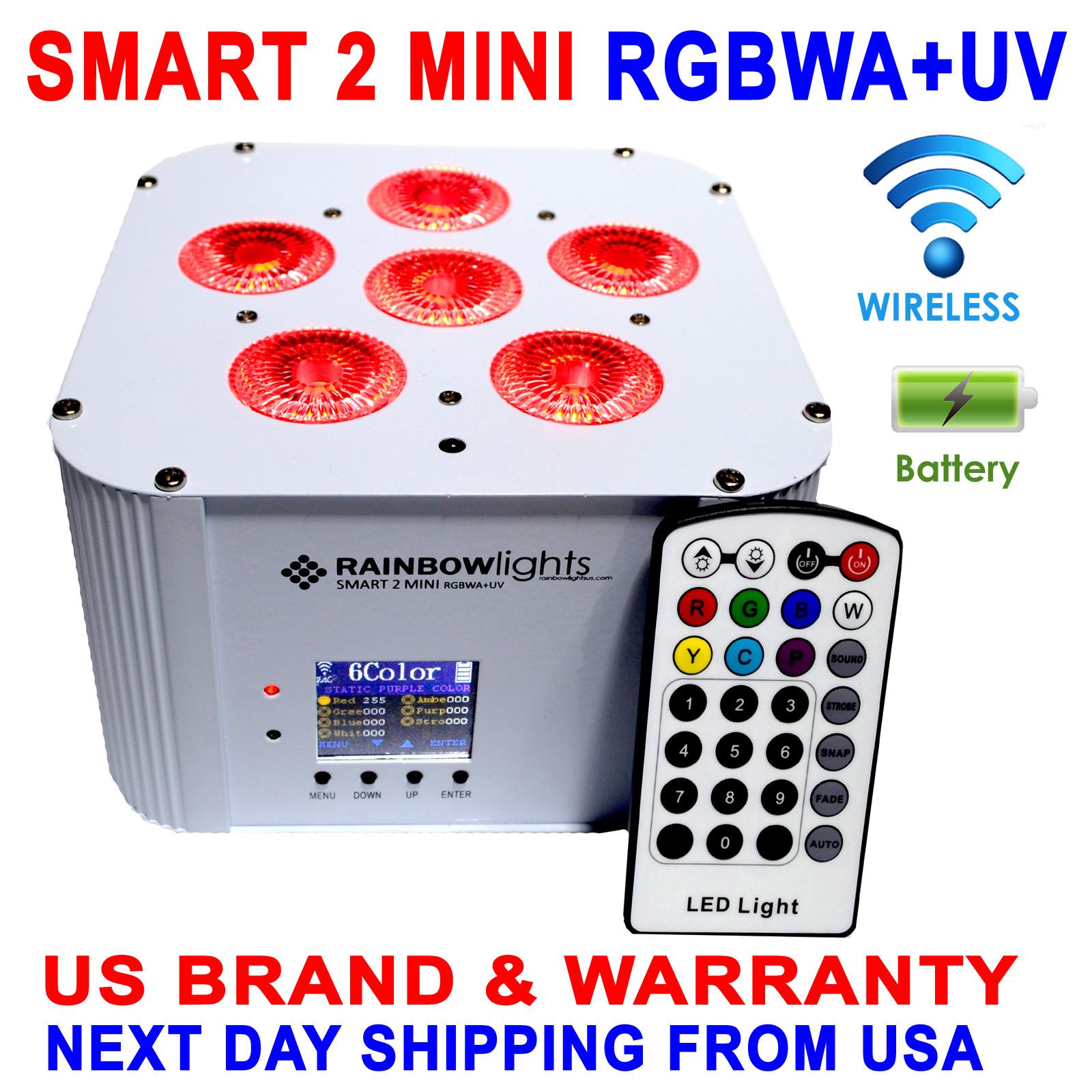 Wireless uplighting fixture SMART 2 RGBWA+UV BLACK, battery operated, wireless DMX by Rainbow Lights