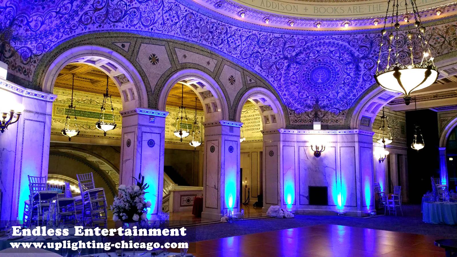 Uplighting Chicago Cultural Center