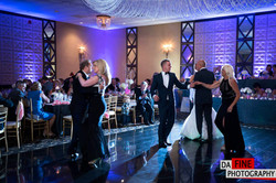 Wedding Purple Uplighting at Chateau Ritz Niles by Endless Entertainment