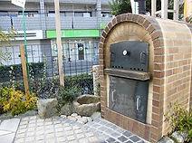 石窯でピザが作れます