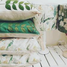 Annie Morris cushions & lampshades, handmade in Kingsbirdge